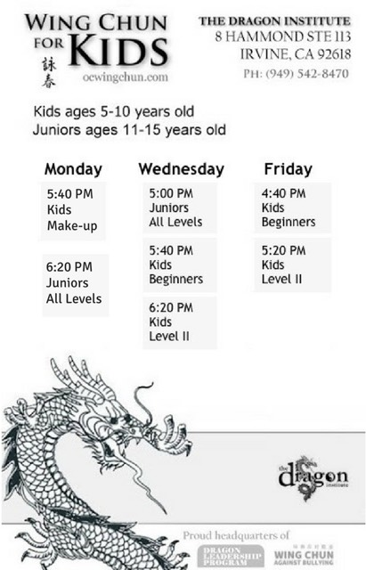 irvine martial arts classes for kids
