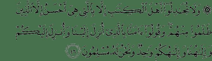 Surat Al 'Ankabut Ayat 46
