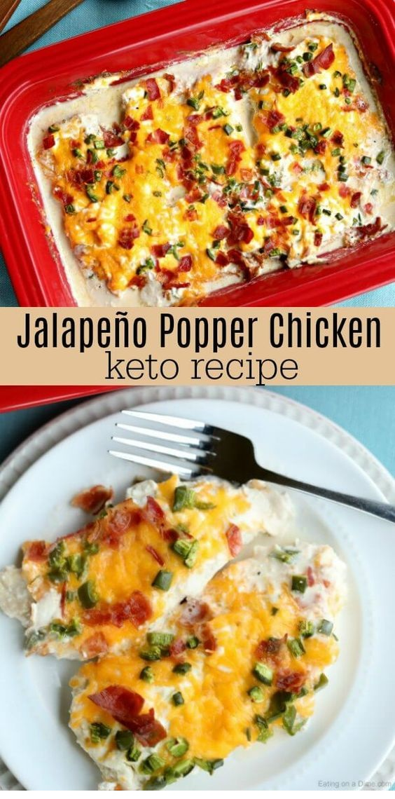 Keto Jalapeno Popper Chicken
