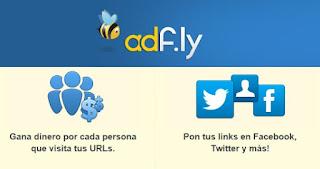 Adfly para Facebook y Twitter