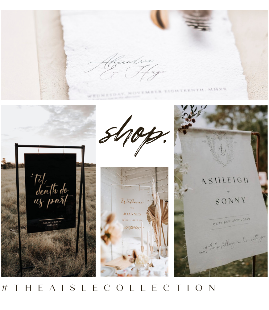 SHOP WEDDING SIGNAGE ONLINE