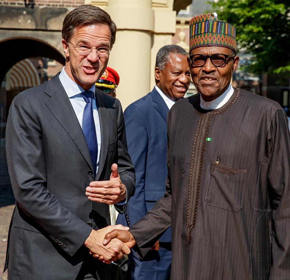 Maurits Hendriks Netherlands Prime Minister Mark Rutte L: Stella Dimoko Korkus.com: Nigeria Welcomes Netherlands