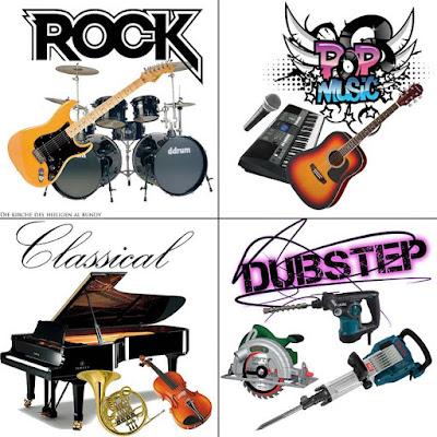 4 Musik Genre nach verwendeten Musikinstrumenten