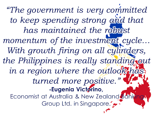 "Philippine  capital investment surge is leaving its neighboring countries in Southeast Asia behind This years first nine months shows net physical assets in the Philippinesgrowth of  10.4 % from the previous year. A big leap compared with Malaysia's 6.9 % increase and Indonesia's 5.8% percent gain.   Philippine government expenditures jumped 28 percent in October, the largest leap in almost a year, with new record budget planned for 2018. Private companies are also joining in: Metro Pacific Investments Corp. plans to invest as much as $16 billion through 2022 on road, water, and power projects, while Ayala Land Inc. is boosting capital spending to a record $2 billion next year.  President Rodrigo Duterte is building new railroads and highways across the archipelago in a $180 billion infrastructure program. The boost in investment adds another engine to the economy, paving a way for growth exceeding 6% and among the world's best performers for six consecutive years.  Sponsored Links After being left behind for decades, the Philippines is now significantly catching up and doing well. Now its growth in net physical assets is the fastest in Southeast Asia even twice faster than Malaysia according to World Bank.   President Duterte is on its way to bringing the Philippines into an upper-middle income country by the end of his term in 2022, and the cornerstone of his vision is a plan referred to as ""Build, Build, Build"". It includes the capital's first subway and a 653-kilometer railway to the south.  Source: Bloomberg  Advertisement Read More:         ©2017 THOUGHTSKOTO"