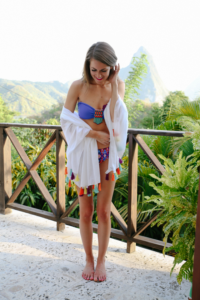 Southern curls pearls st lucia travel diary day one for Travel swimsuit