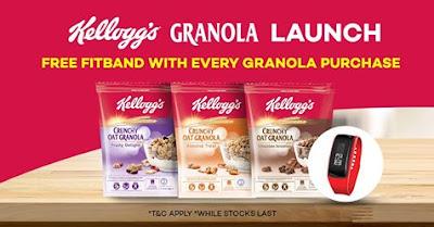 Kellogg's Granola Lazada Malaysia Store Launch Free Fitband Promo