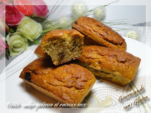 Petits cakes potiron et raisins sans gluten
