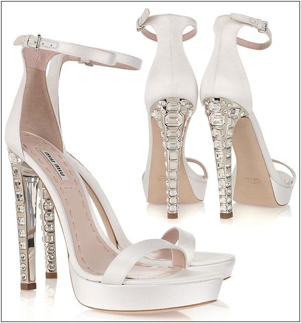 Miu Luxury Heels Bridal Shoes