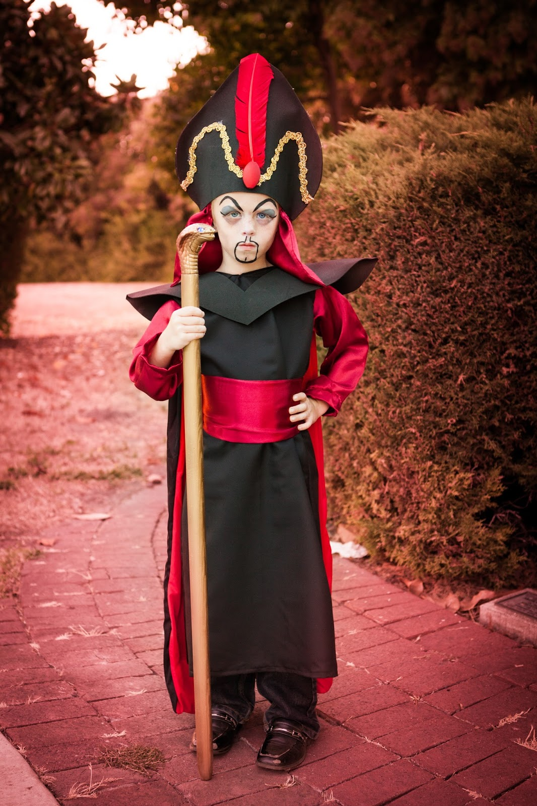 He really wanted lots of make-up too so I did my best since he was one wiggly little boy. But overall I think heu0027s the cutest Jafar ever.  sc 1 st  the Krazy Kingdom & Welcome to the Krazy Kingdom: Potter Family Halloween 2017 - Disney ...