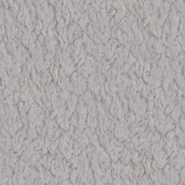 White Fur Carpet Seamless Texture