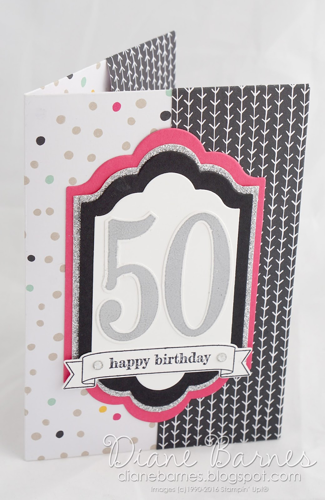 Colour Me Happy Big Birthday No Cut Patterned Paper Folder