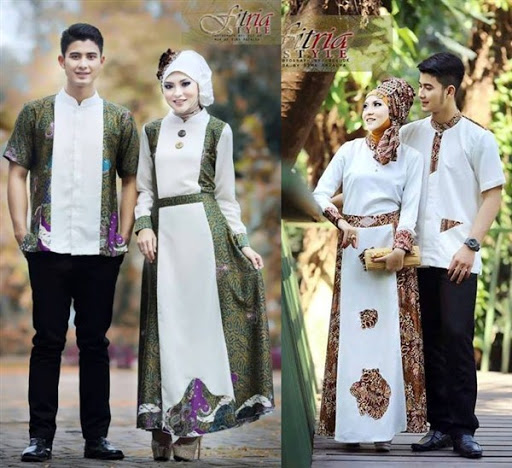 dress muslimah couple terbaru 2017/2018