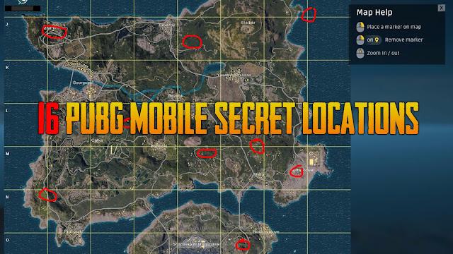 16 PUBG Mobile Secret Locations