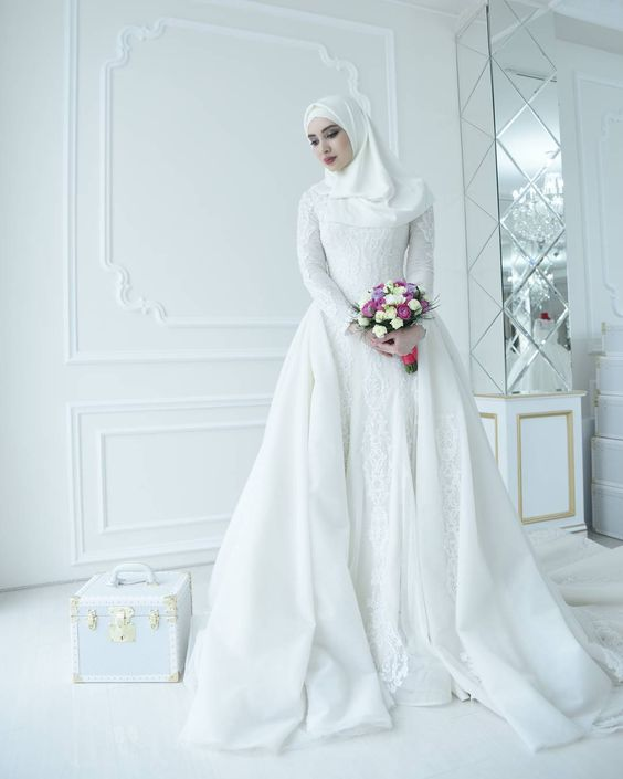 9db52be3d4ed1 Robe Hijab De Mariée Style 2018 - Hijab Fashion and Chic Style