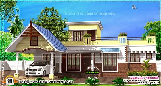 Single floor home, Kottayam