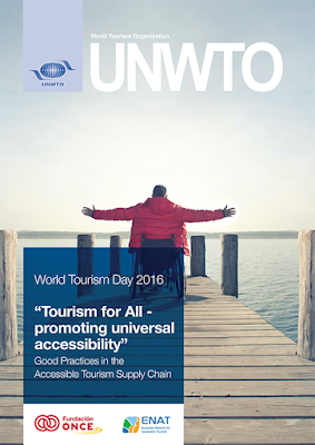 "Image of the Cover Page of the UNWTO Brochure titled ""Tourism for all - promoting universal accessibility"""