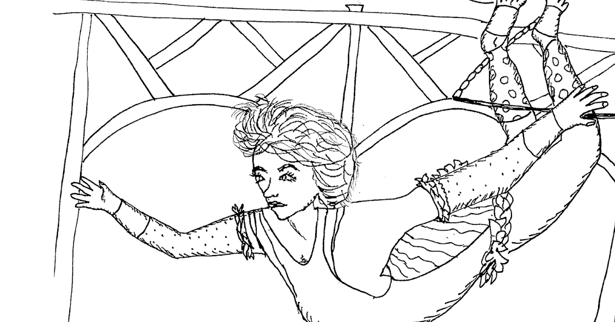 Robinu0027s Great Coloring Pages: Greatest Showman Circus Coloring Pages 3  Trapeze