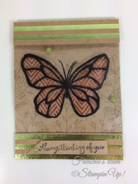 Frenchie' Team, Beautiful Day, Stampin'Up!, Foil Frenzy Designer paper,