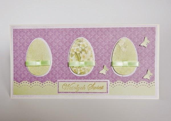 Wielkanocna kartka z jajakami
