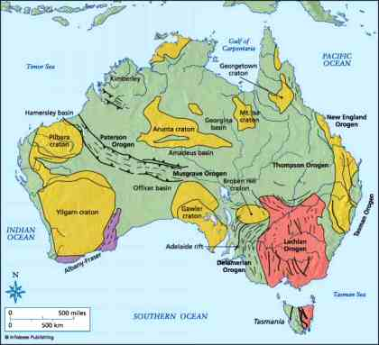Australia's ancient geography