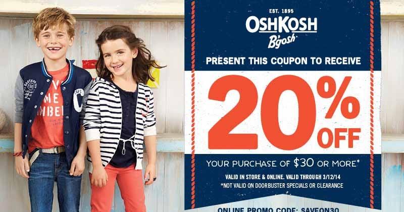 Osh kosh outlet printable coupons 2018