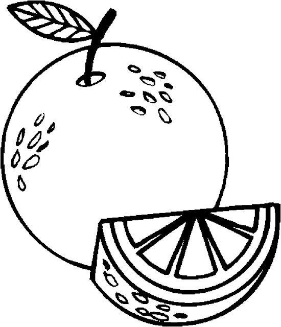dibujos de naranja para colorear