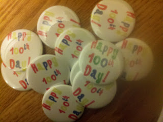100th day buttons