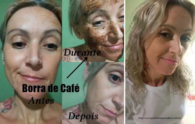 Borra de café pra pele