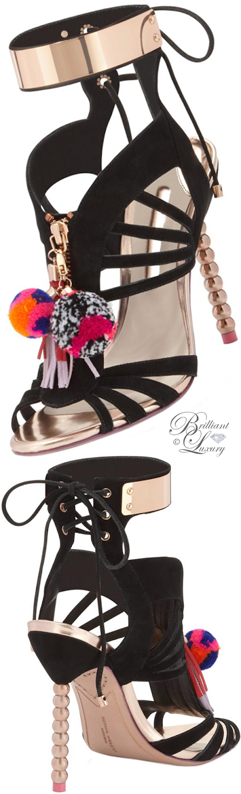 Brilliant Luxury ♦ Sophia Webster Nereida strappy 100mm sandal