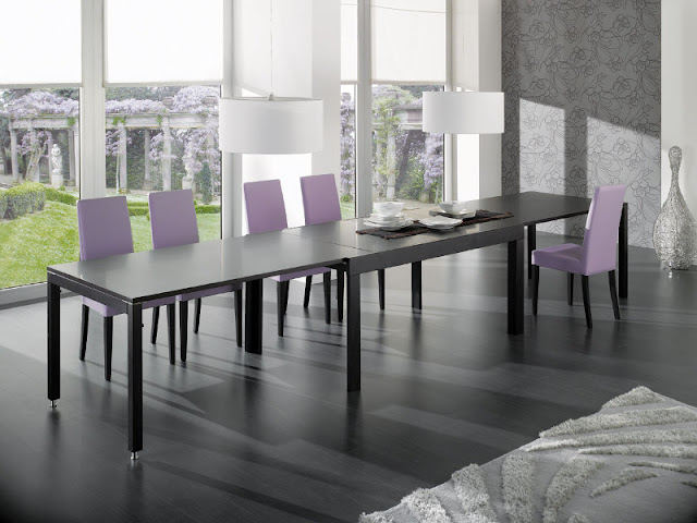 Modern Dining Chairs for your Living Room Modern Dining Chairs for your Living Room Ideal Sedia Modern dining chair with wenge legs and lilac eco leather upholstery with matching Ideal Sedia furniture
