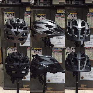 Helm Sepeda Mxl AM20 size 53-60 cm Black Grey