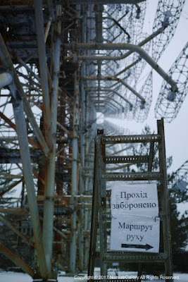 The worlds biggest radar installation called the DUGA in Ukraine.