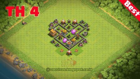 Formasi coc th 4 farming base layout