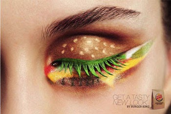 make-up hamburger. Publicité BurgerKing