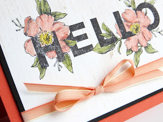 Stampin' Up! Floral Statements Hello Card ~ Watercolor Pencils + Blender Pen ~ 2017-2018 Stampin' Up! Annual Catalog ~ www.juliedavison.com
