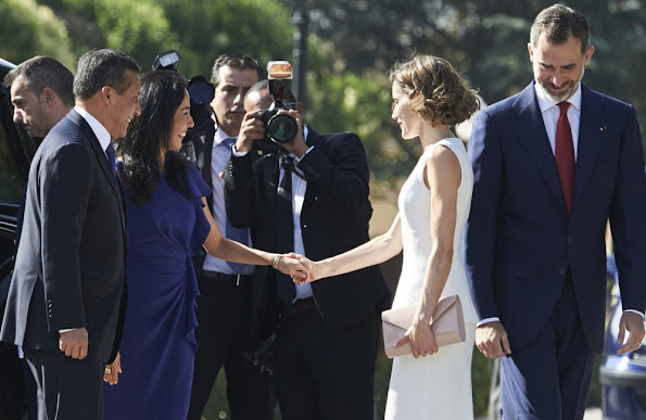 Queen Letizia and King Felipe with Peruvian President Ollanta Humala Tasso and his wife Nadine Heredia Alarcon