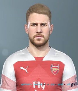 PES 2019 Faces Aaron Ramsey by Shenawy