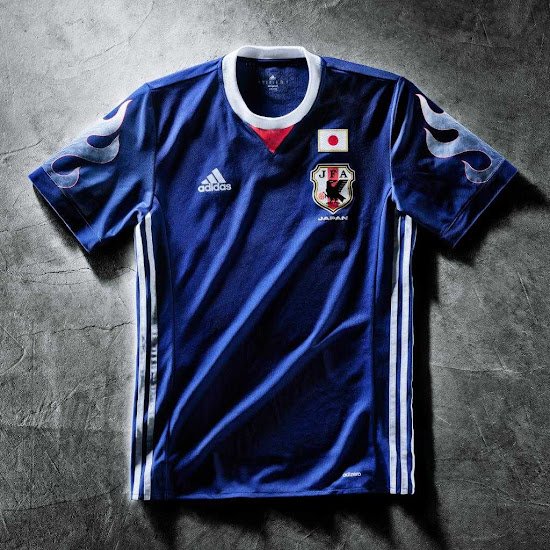 12da29814 Adidas brought back Japan s 1998 World Cup jersey design in Summer 2017 to  celebrate the 20-year anniversary of their first-ever World Cup  qualification