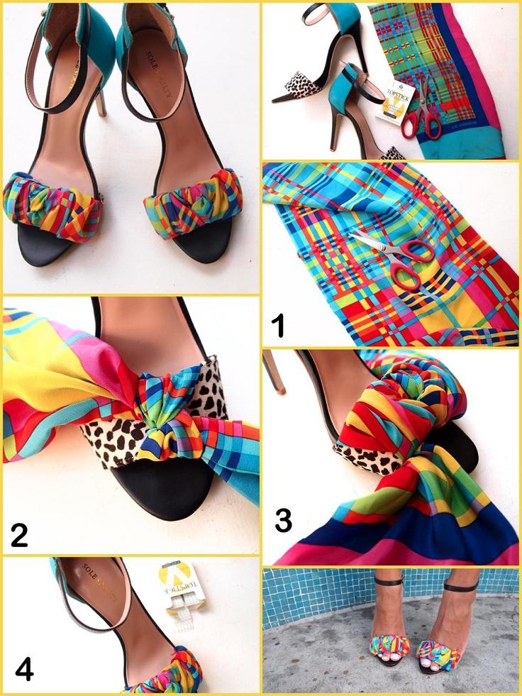 sandalias, zapatos, customizar, tunear, transformar, accesorios, complementos