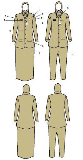 Model Seragam Pakaian Dinas PNS Pria dan Wanita di