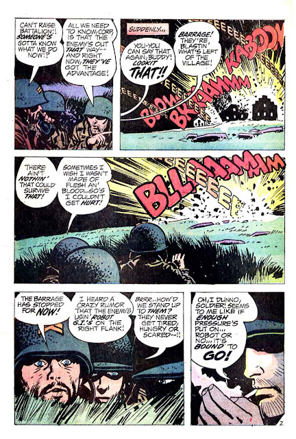 Weird War Tales v1 #6 dc bronze age comic book page art by Alex Toth