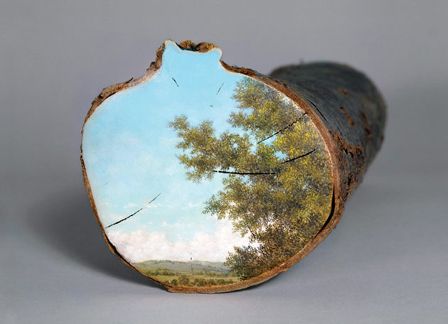 08-Log-Series-Alison-Moritsugu-Landscape-Painting-on-Tree-Logs-www-designstack-co
