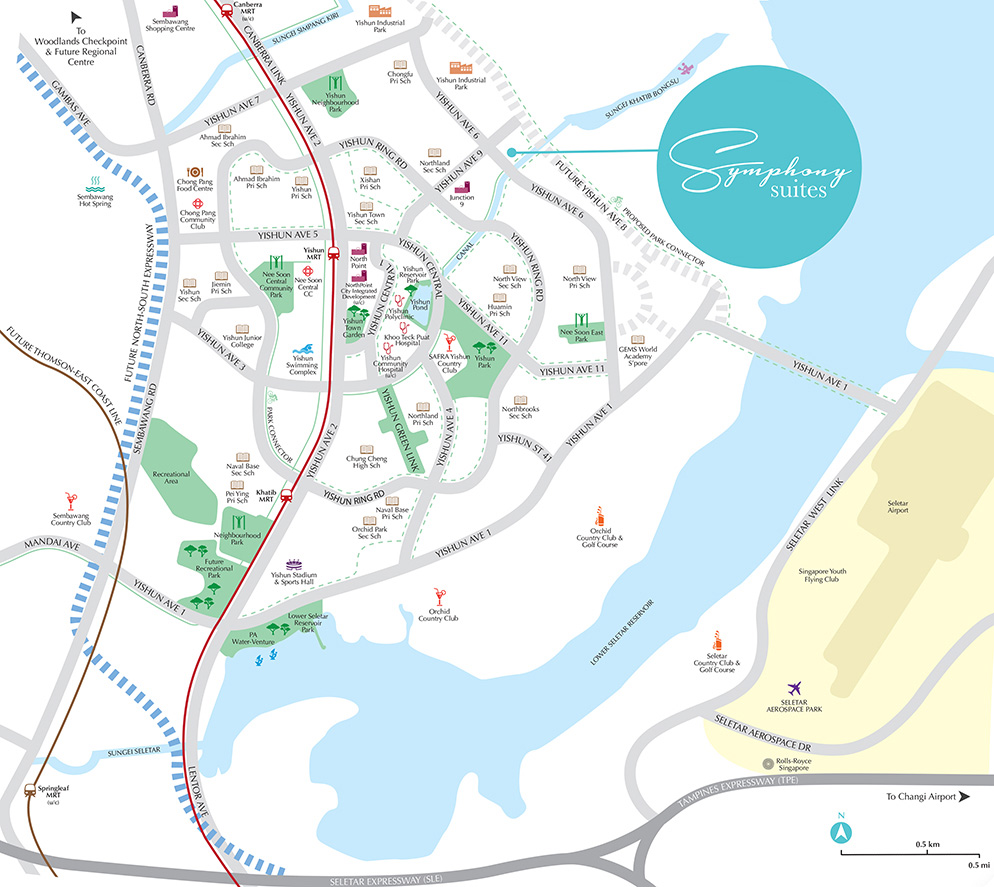 Symphony Suites Location Map