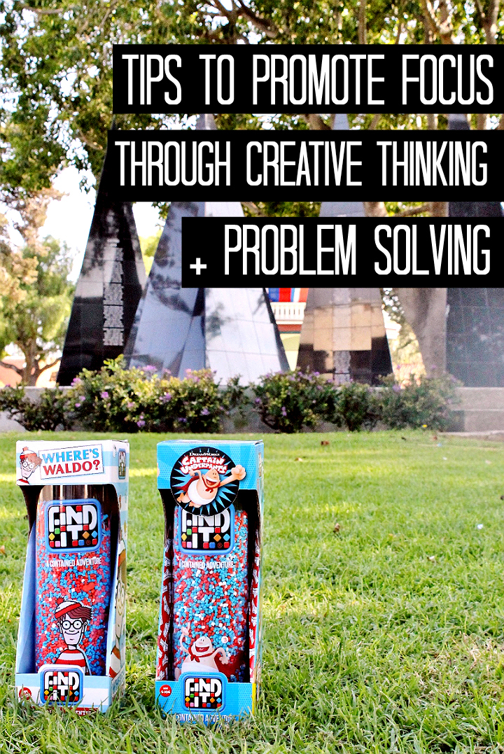 Tips to promote focus through problem solving and creative thinking, for kids. #sponsored