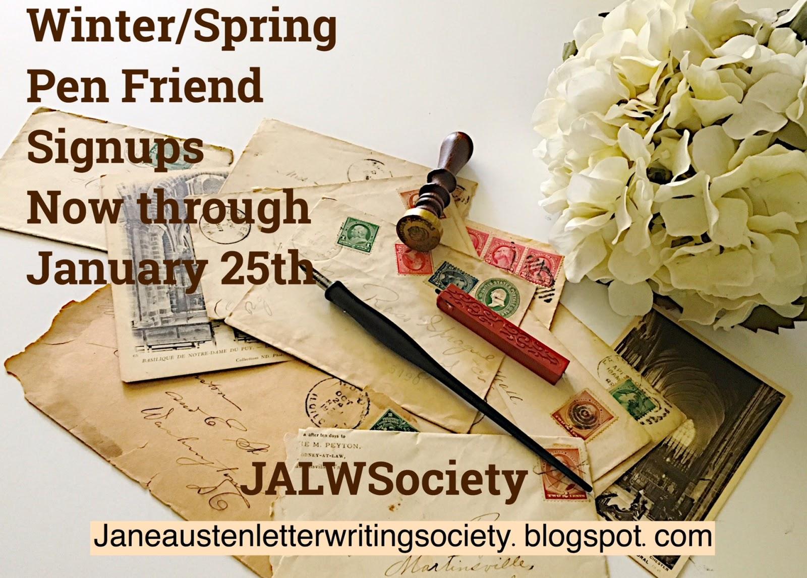 The jane austen letter writing society spiritdancerdesigns Gallery