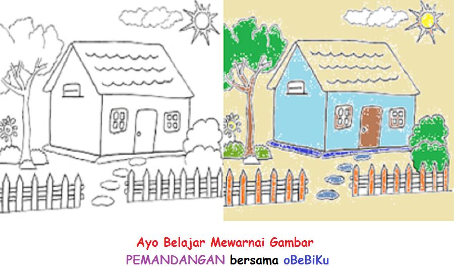 Mewarnai Gambar Pemandangan Png - GAMBAR MEWARNAI HD