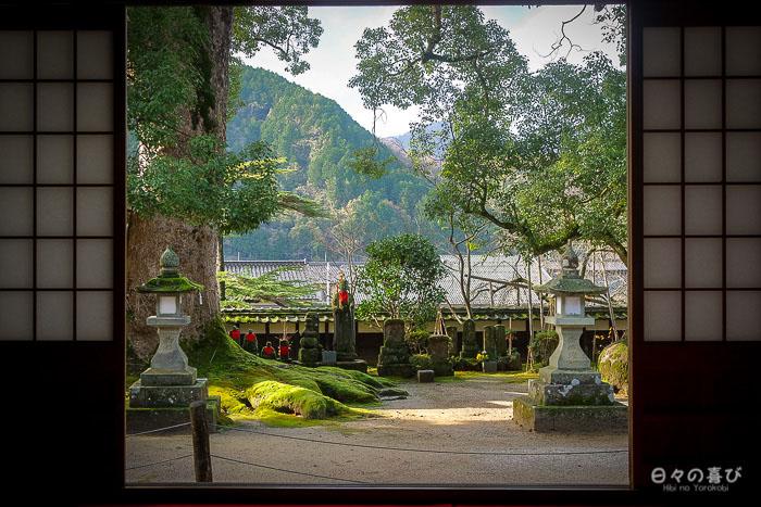 vue sur la cour depuis le hall du daijoji