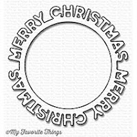 MFT MERRY CHRISTMAS CIRCLE FRAME Die-Namics