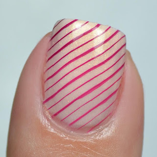 stamped gradient nail art