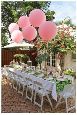 decoración con globos para cena de cumpleaños formas bonitas